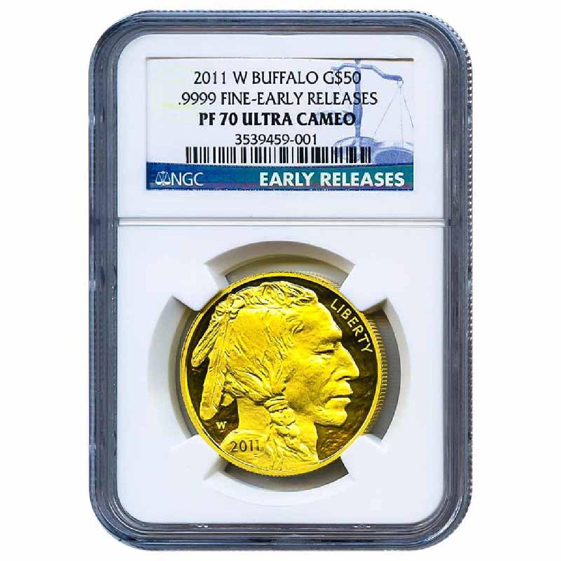 Certified Proof Buffalo Gold Coin 2011-W PF70 NGC Early