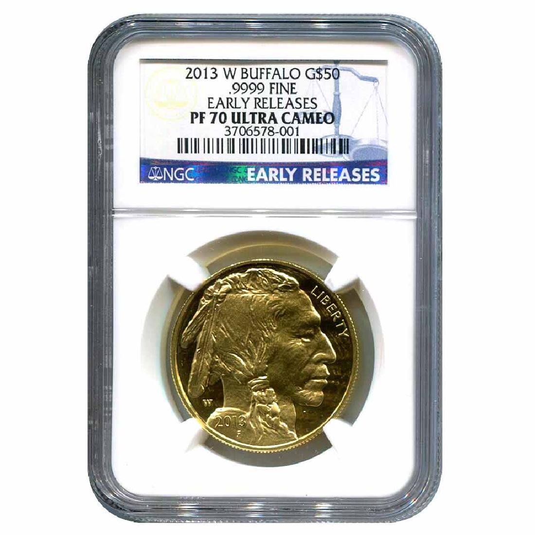 Certified Proof Buffalo Gold Coin 2013-W PF70 Ultra Cam
