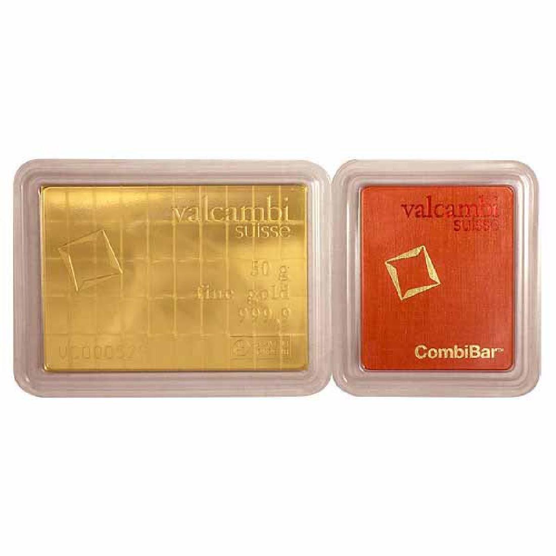Valcambi Suisse 50 Gram Gold CombiBar