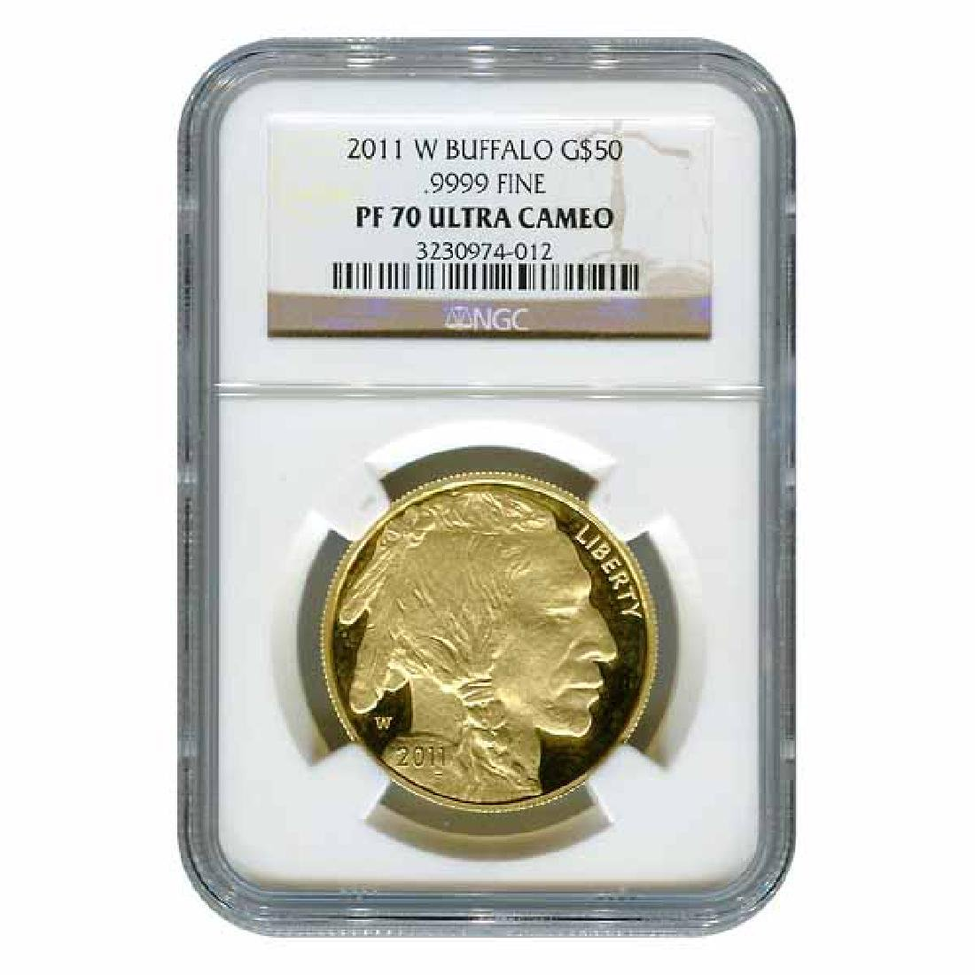 Certified Proof Buffalo Gold Coin 2011-W One Ounce PF70