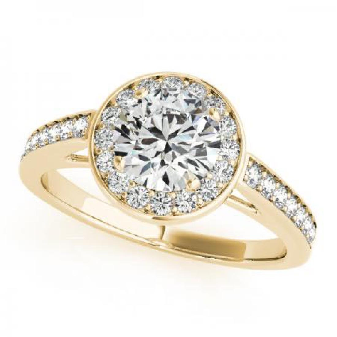 CERTIFIED 18K YELLOW GOLD .87 CT G-H/VS-SI1 DIAMOND HAL