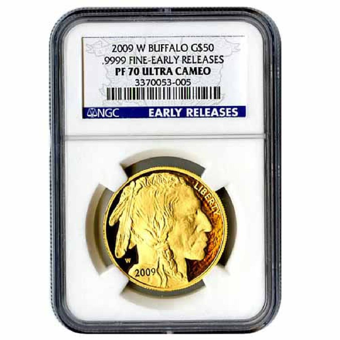 Certified Proof Buffalo Gold Coin 2009-W PF70 Early Rel
