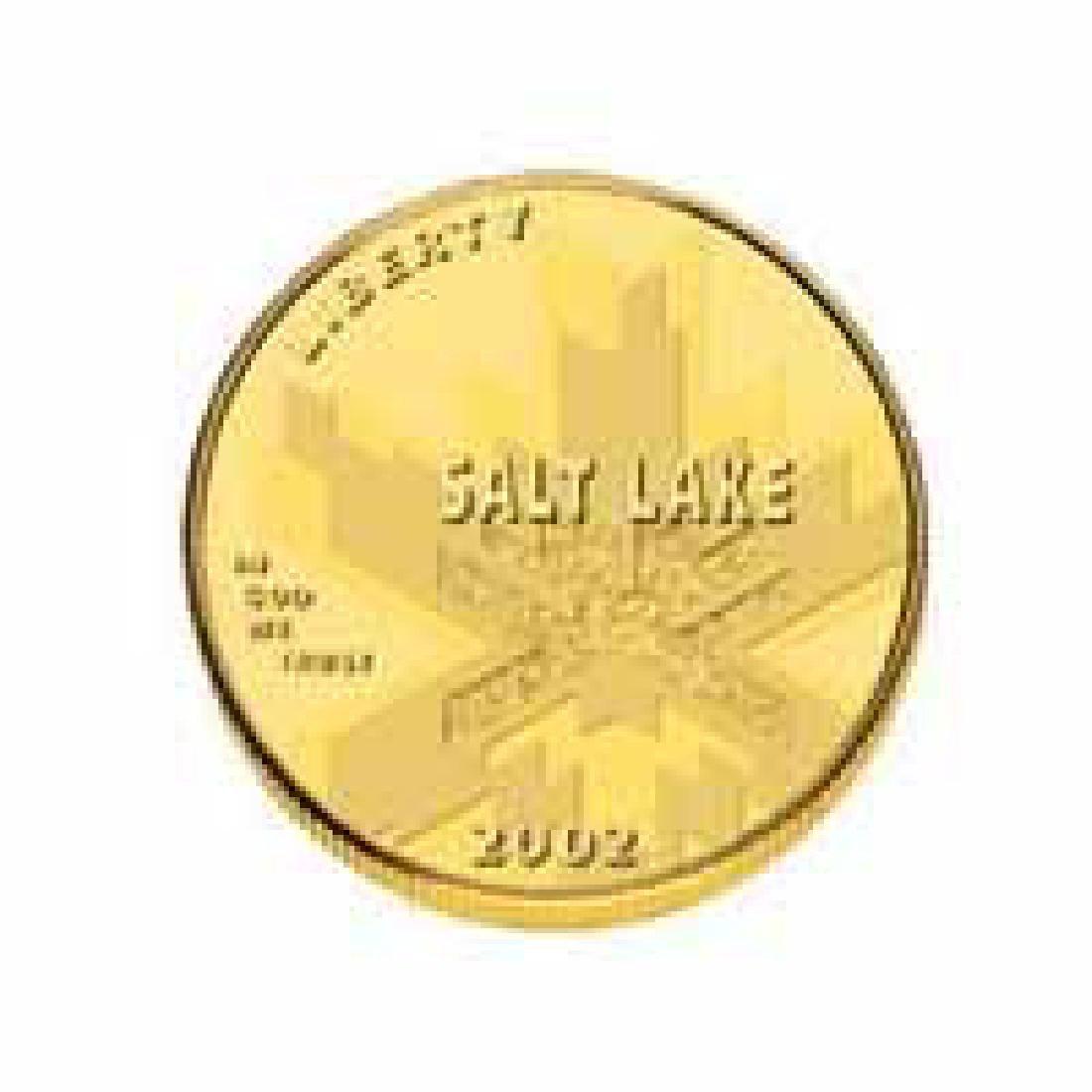 Gold $5 Commemorative 2002 Olympic BU