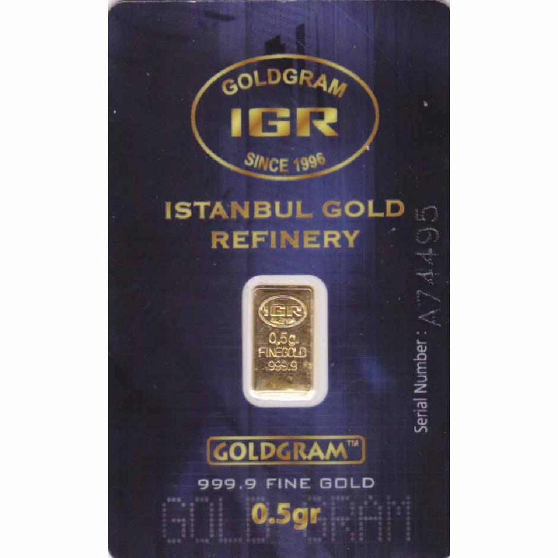 1 Half Gram Gold Bar - Random Manufacturer