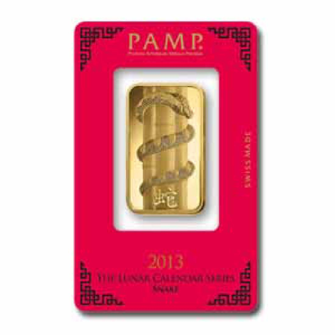 PAMP Suisse One Ounce Gold Bar - 2013 Snake Design