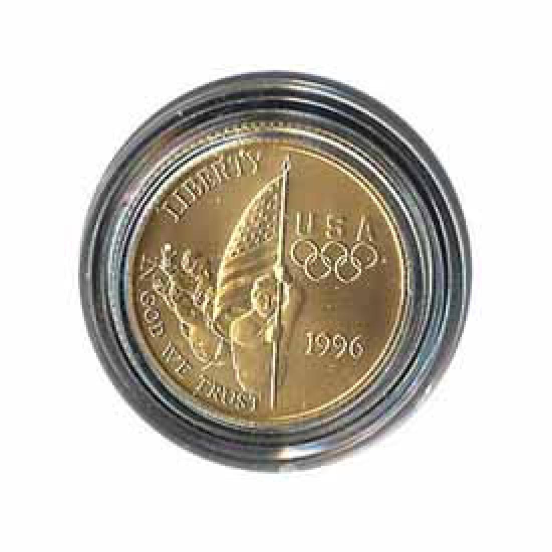 Gold $5 Commemorative 1996 Flag BU