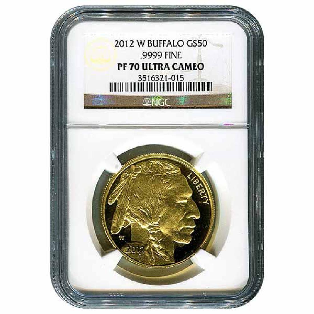 Certified Proof Buffalo Gold Coin 2012-W PF70 NGC
