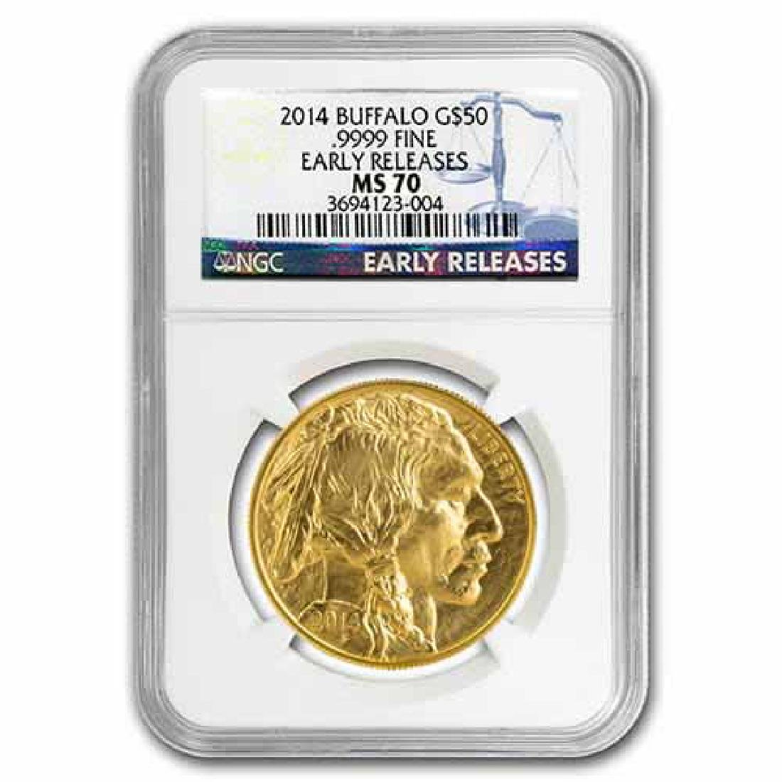 Certified Uncirculated Gold Buffalo One Ounce 2014 MS70
