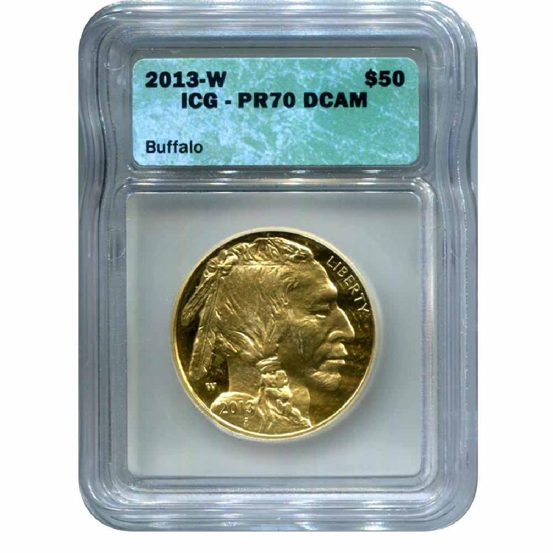 Certified Proof Buffalo Gold Coin 2013-W PF70 ICG