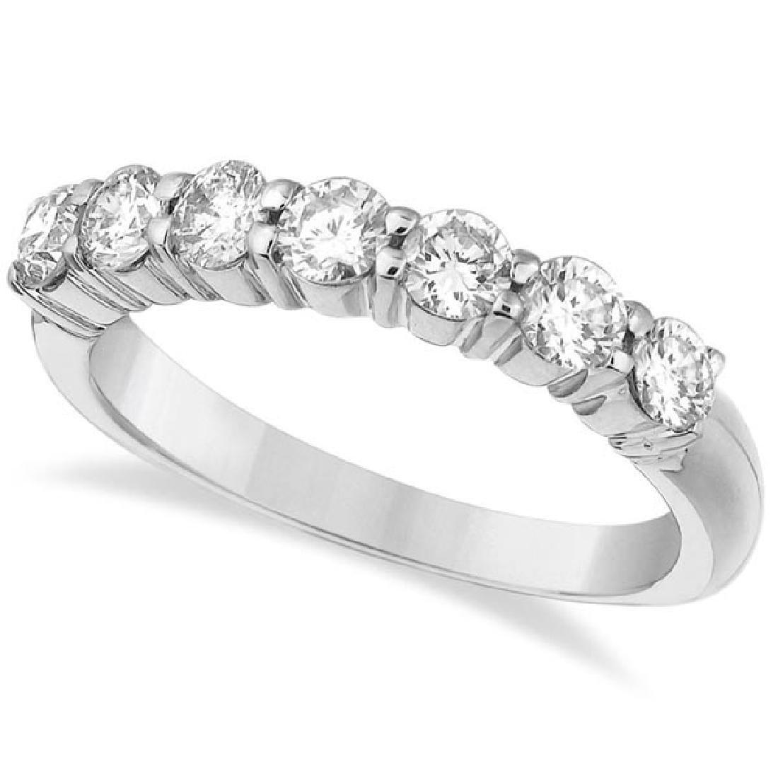 Seven-Stone Diamond Anniversary Ring Band 14k White Gol