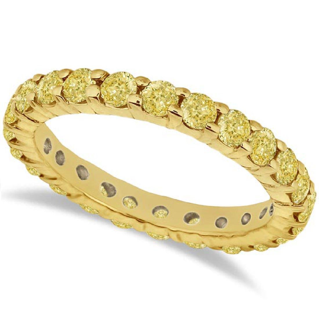 Fancy Yellow Canary Diamond Eternity Band 14k Yellow Go