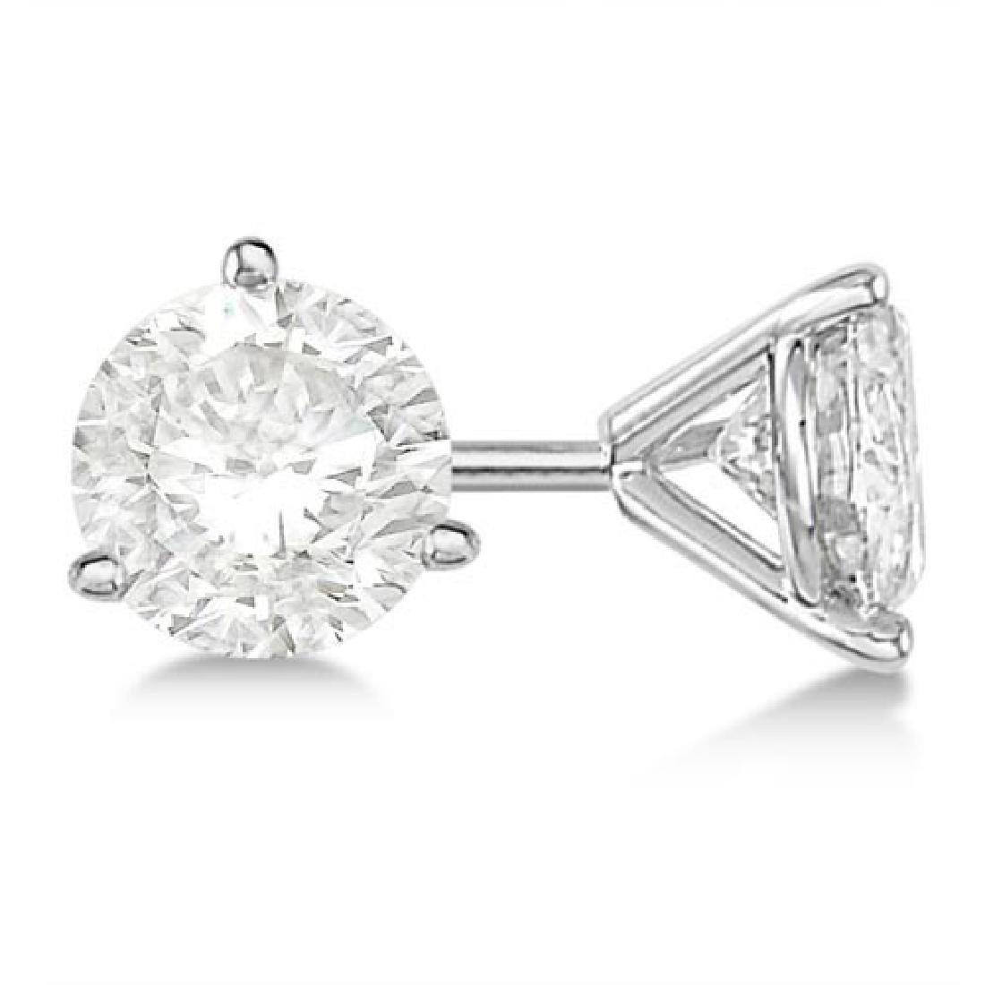 2.50ct. 3-Prong Martini Diamond Stud Earrings Platinum