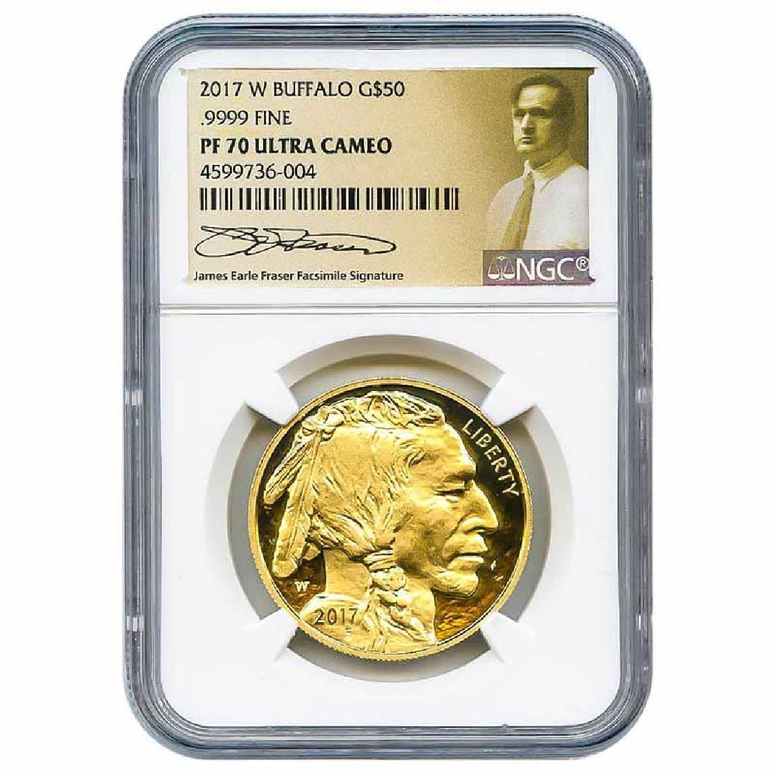 Certified Proof Buffalo Gold Coin 2017-W PF70 NGC James