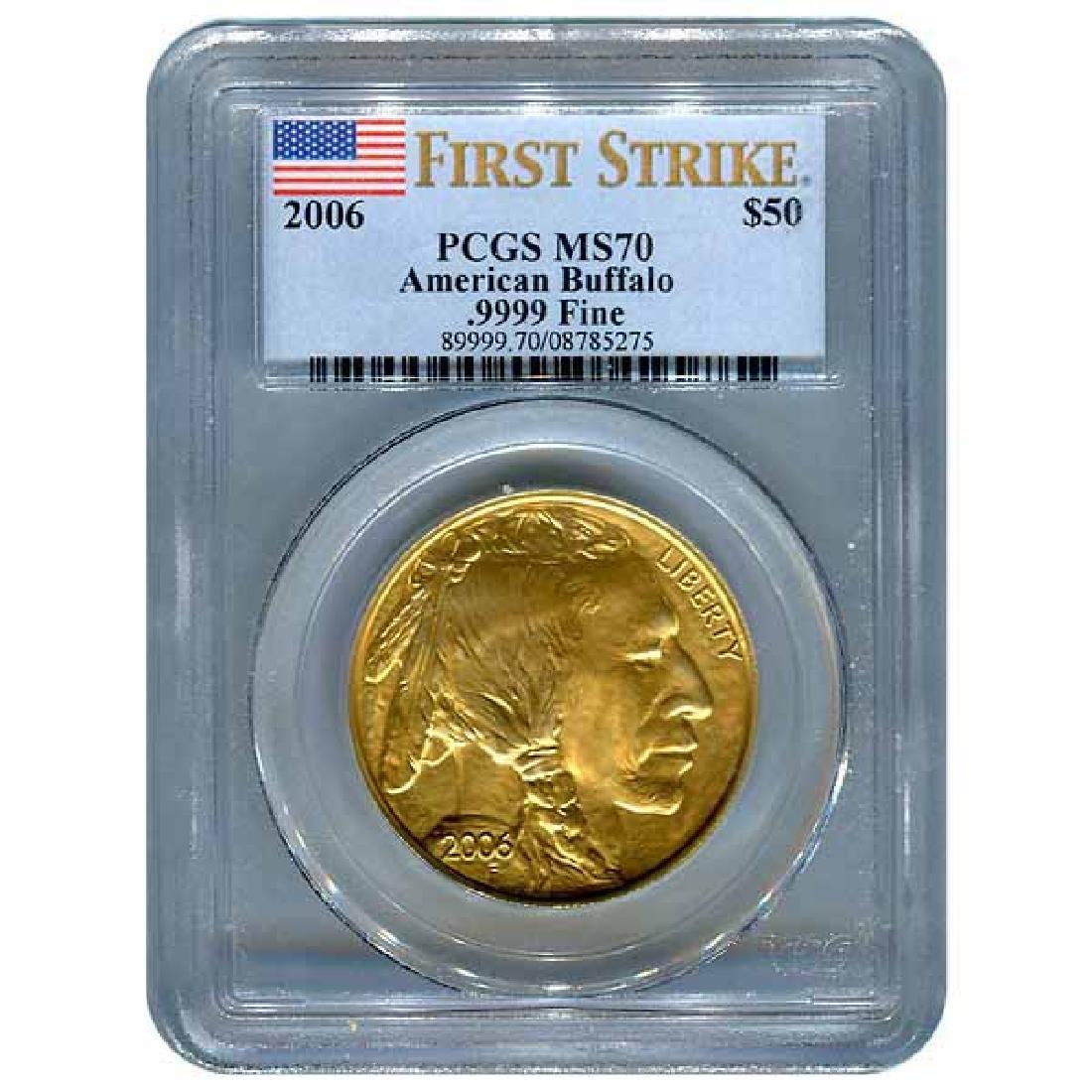 Certified Uncirculated Gold Buffalo 2006 MS70 PCGS Firs
