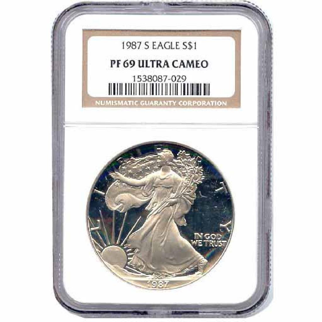 Certified Proof Silver Eagle PF69 1987