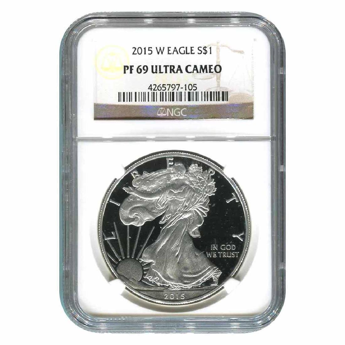 Certified Proof Silver Eagle 2015-W PF69 Ultra Cameo NG