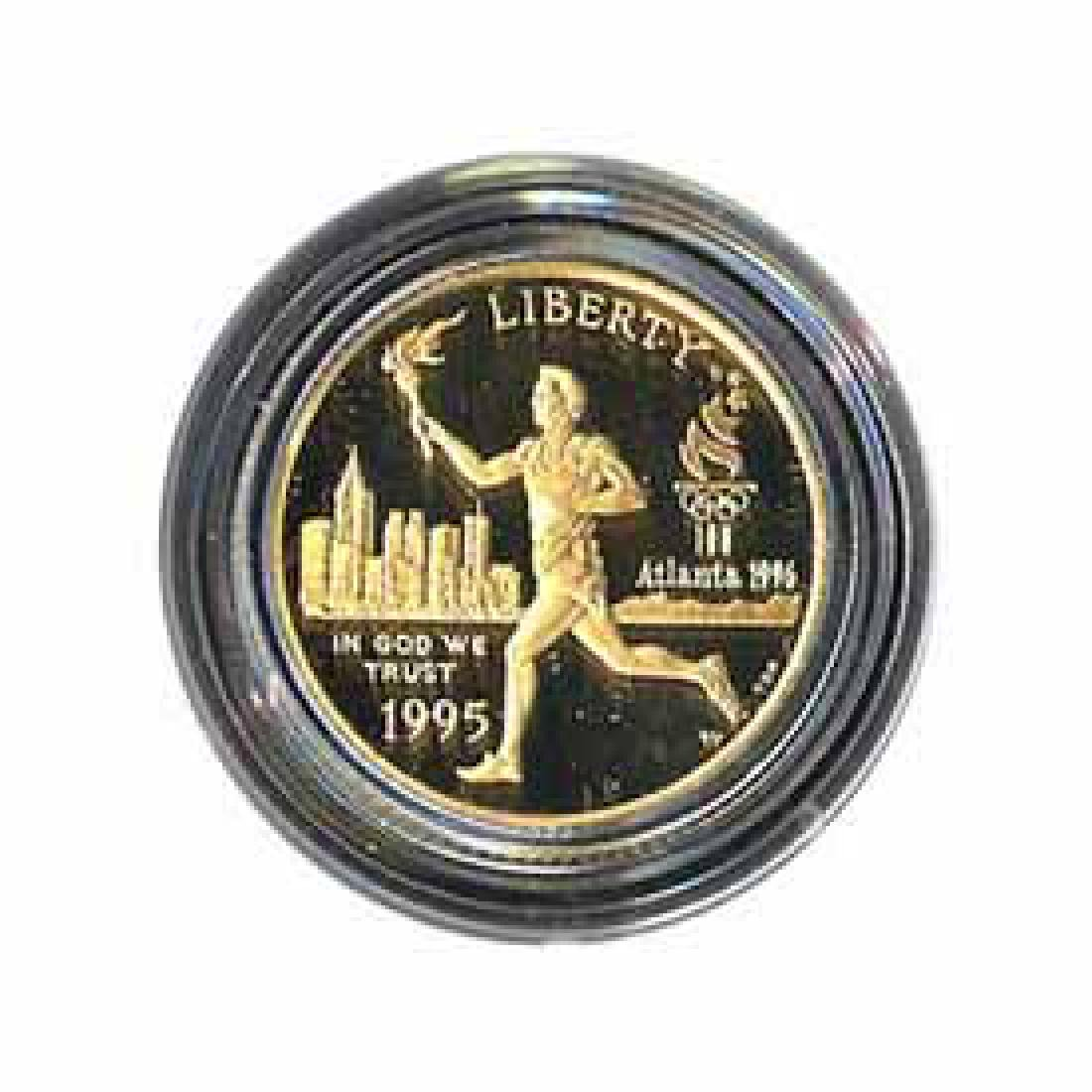Gold $5 Commemorative 1995 Torch Proof