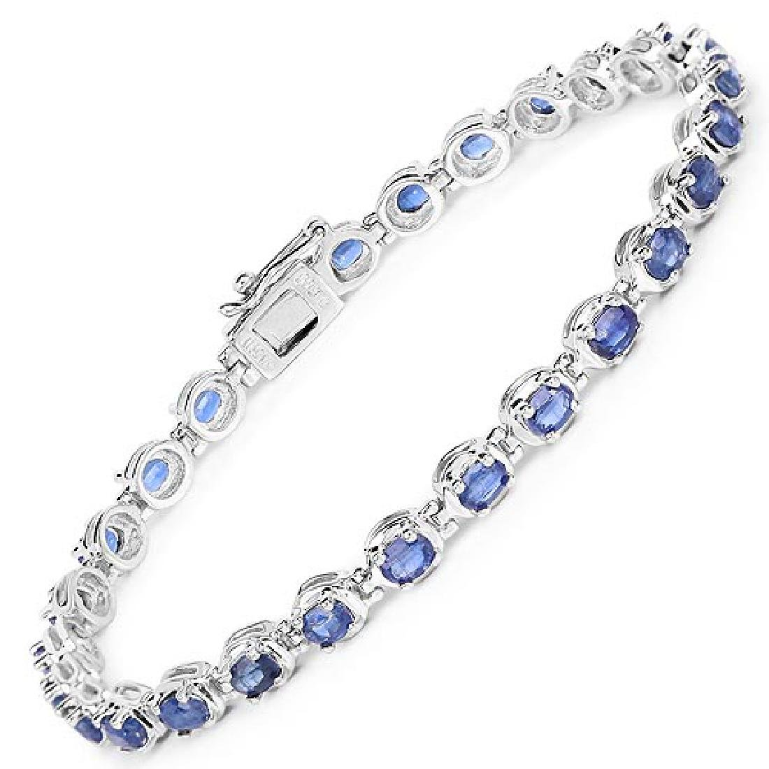 7.02 Carat Genuine Kyanite .925 Sterling Silver Bracele