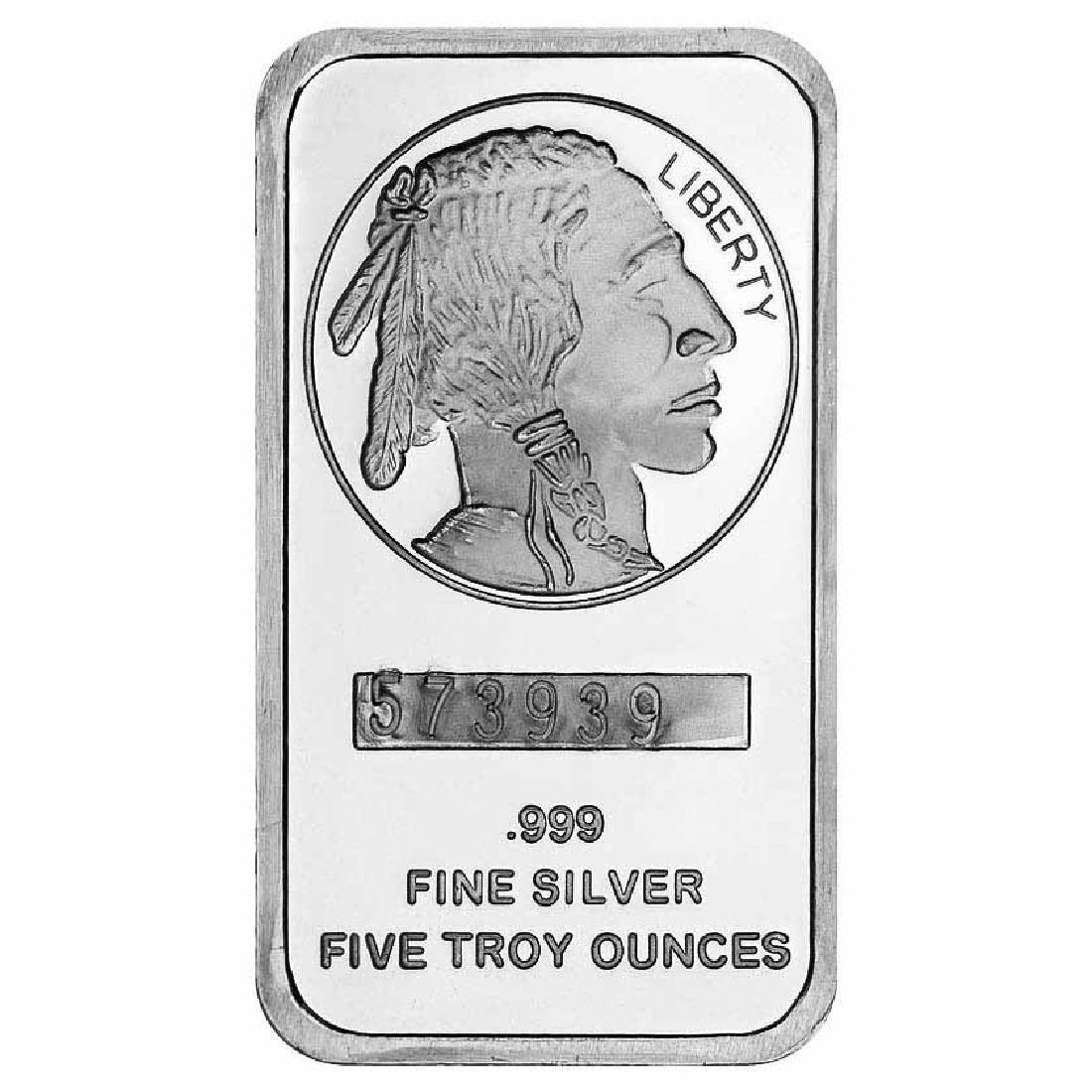 SilverTowne 5 oz Silver Bar - Buffalo Design