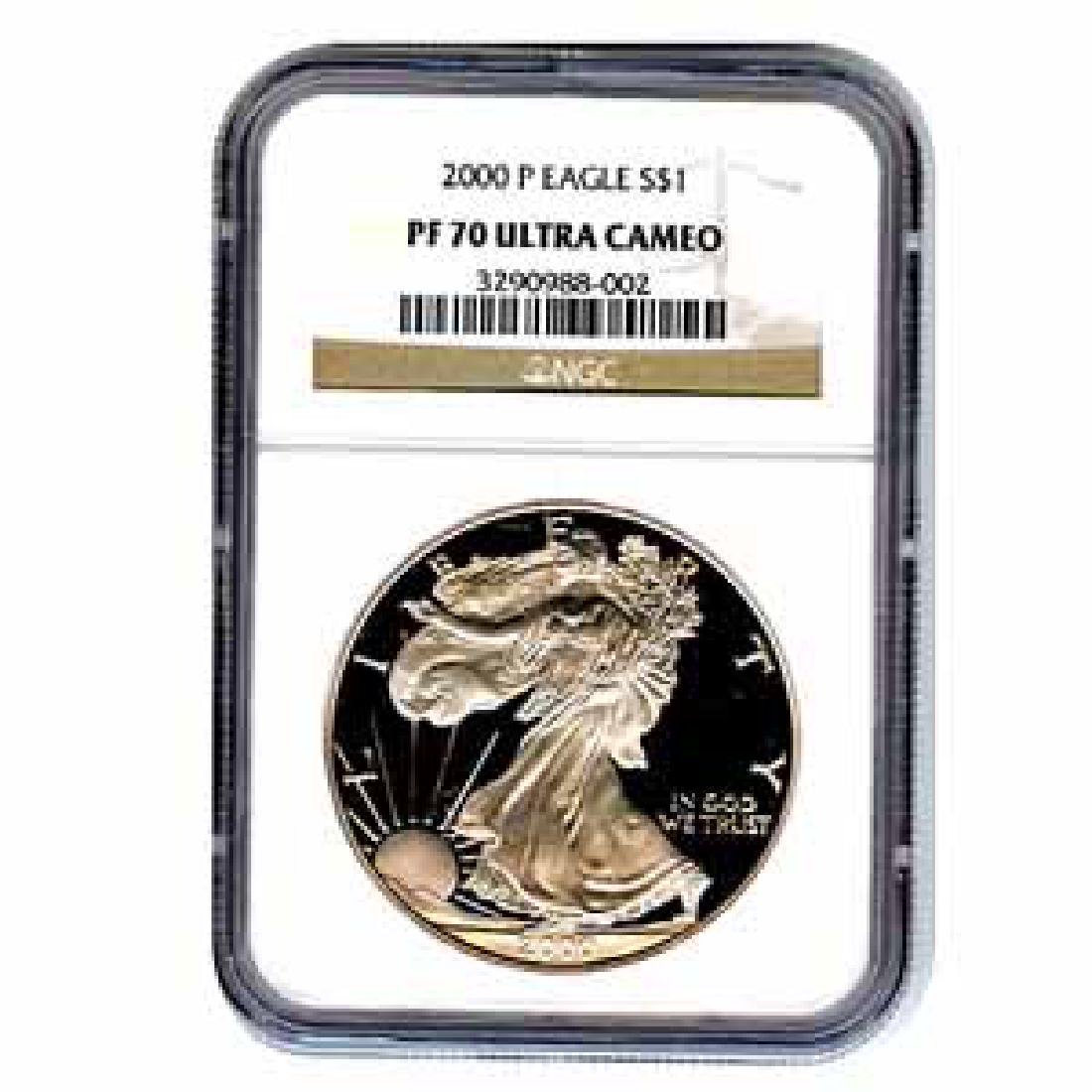 Certified Proof Silver Eagle 2000 PF70 NGC