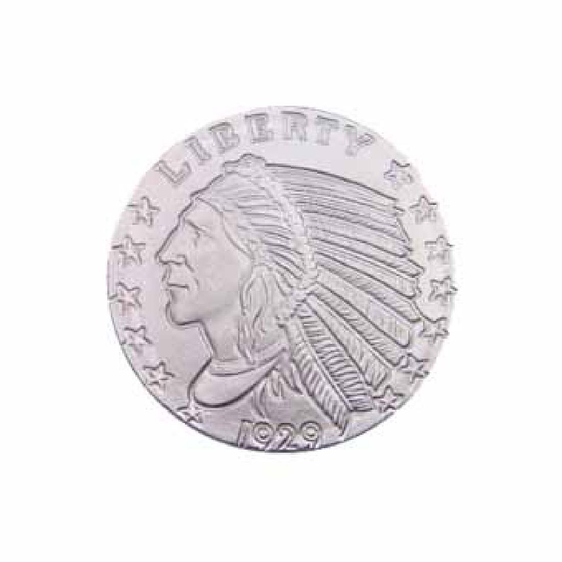 Silver Bullion 1/10 oz Incuse Indian Round .999 Fine