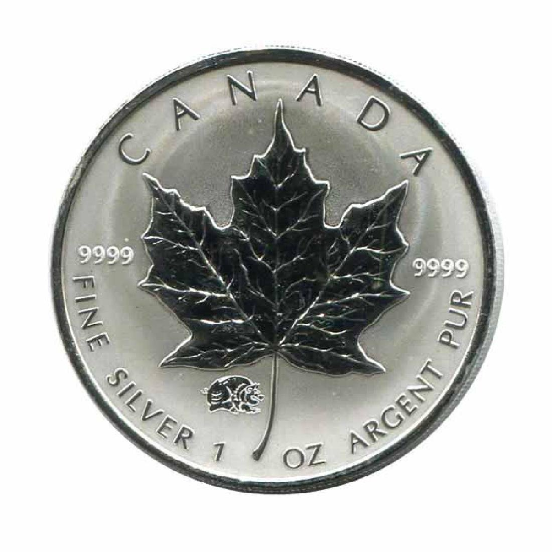 2007 Canada 1 oz. Silver Maple Leaf Reverse Proof Pig P