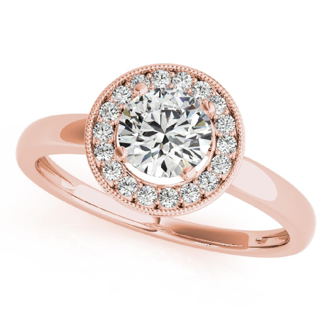 CERTIFIED 18K ROSE GOLD 1.36 CT G-H/VS-SI1 DIAMOND HALO