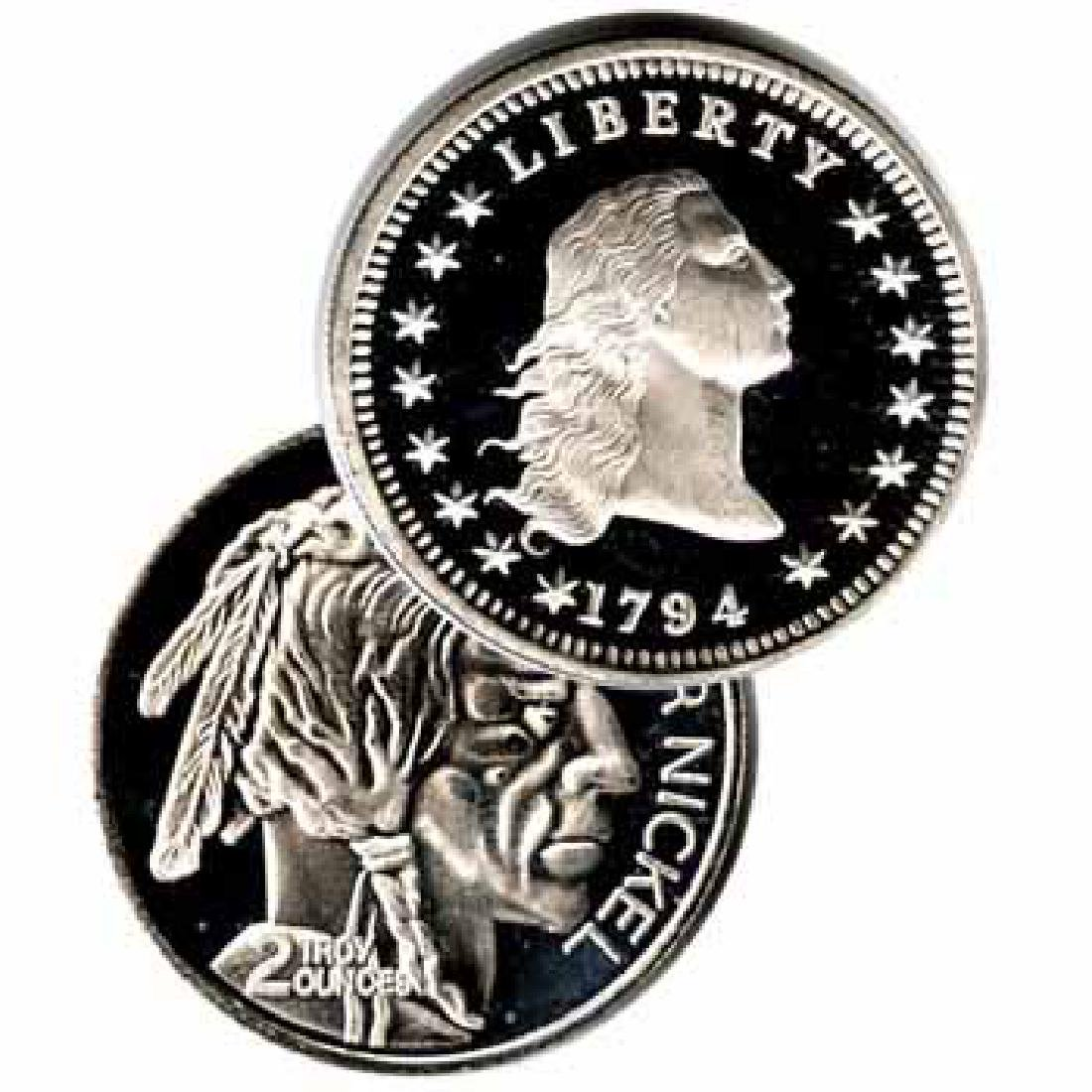 Assorted Silver Bullion 2 oz Round