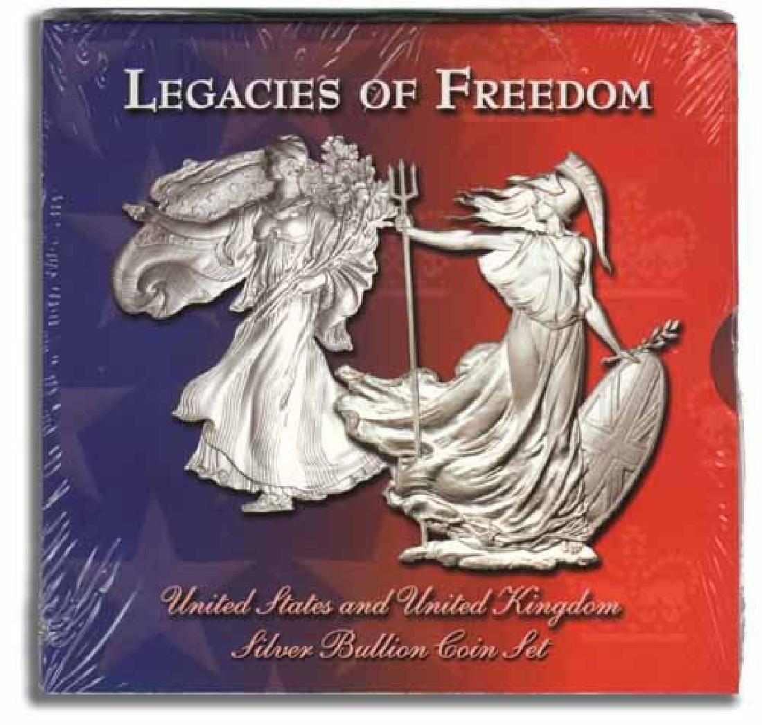 Legacies of Freedom Silver Eagle 2003 & Silver Britanni