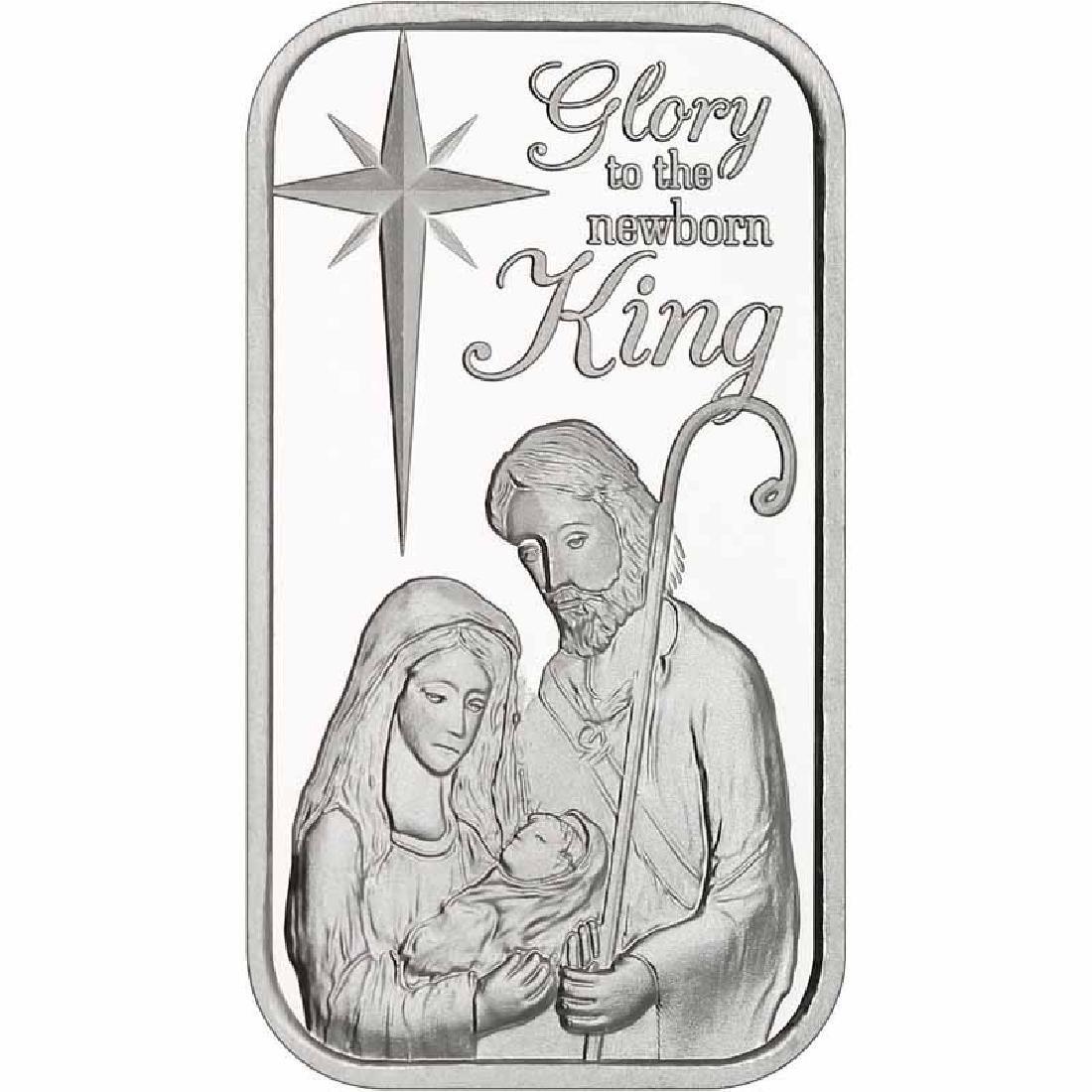 Christmas 2017 Silver Bar X-3 Nativity