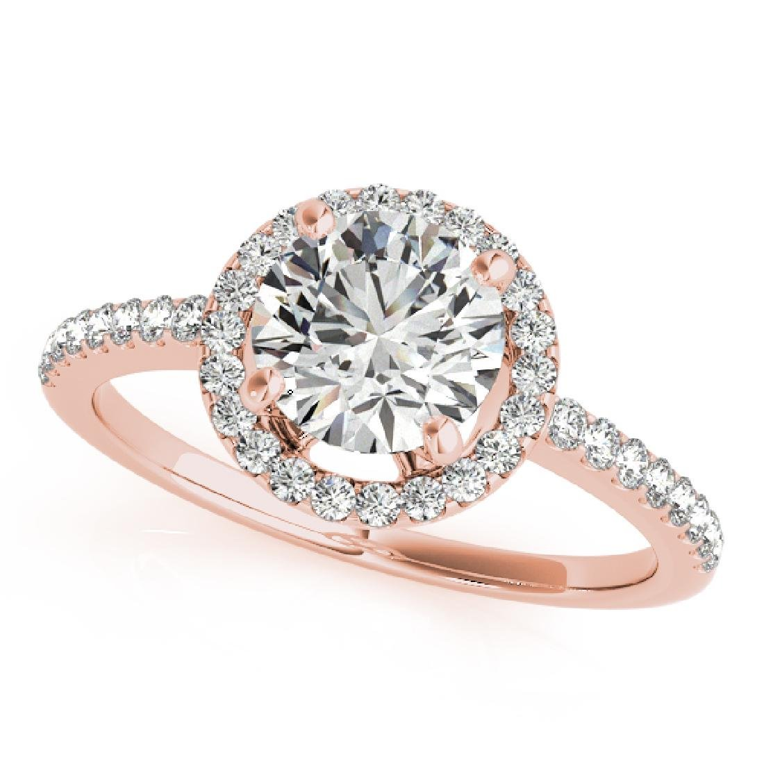 CERTIFIED 18K ROSE GOLD 1.58 CT G-H/VS-SI1 DIAMOND HALO