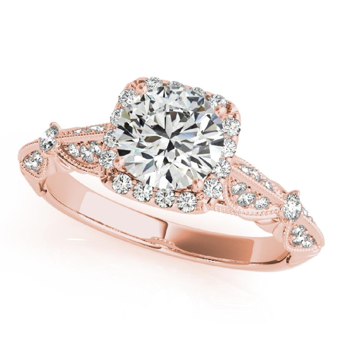 CERTIFIED 18K ROSE GOLD 1.31 CT G-H/VS-SI1 DIAMOND HALO