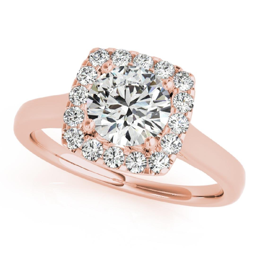 CERTIFIED 18K ROSE GOLD 1.57 CT G-H/VS-SI1 DIAMOND HALO