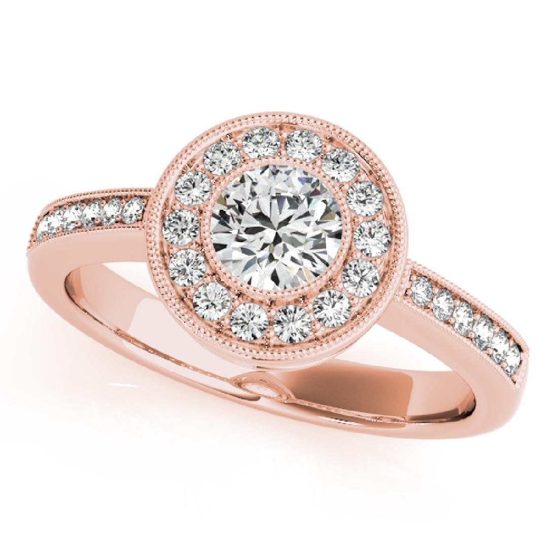 CERTIFIED 18K ROSE GOLD 1.20 CT G-H/VS-SI1 DIAMOND HALO