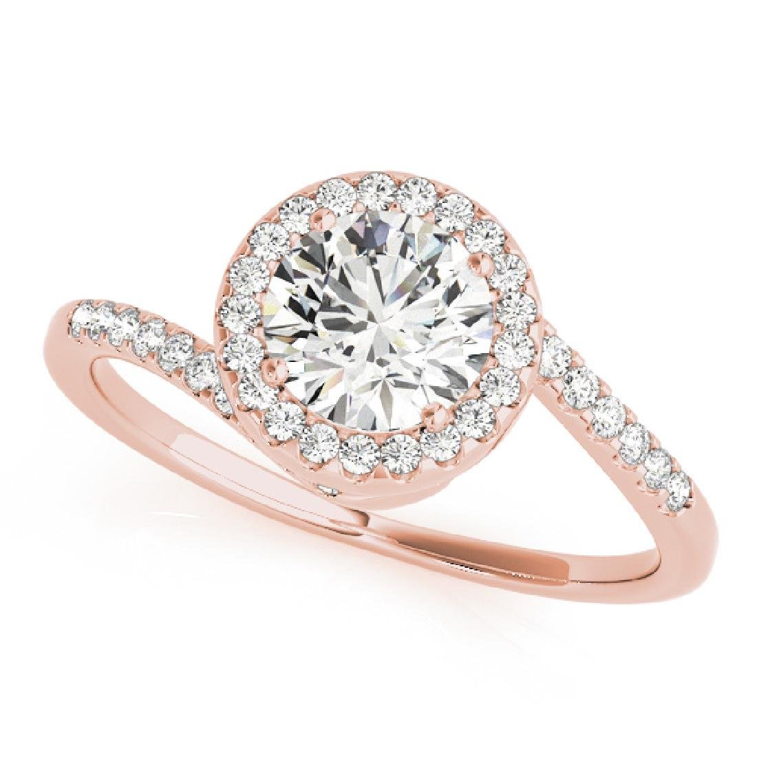 CERTIFIED 18K ROSE GOLD 1.49 CT G-H/VS-SI1 DIAMOND HALO