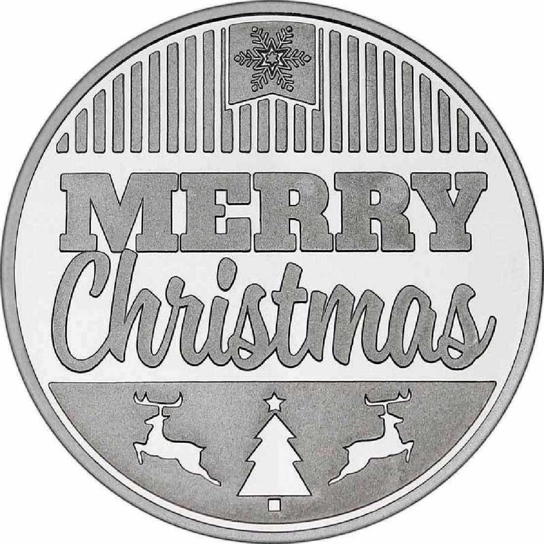 Christmas 2017 Silver Round X-12 Merry Christmas