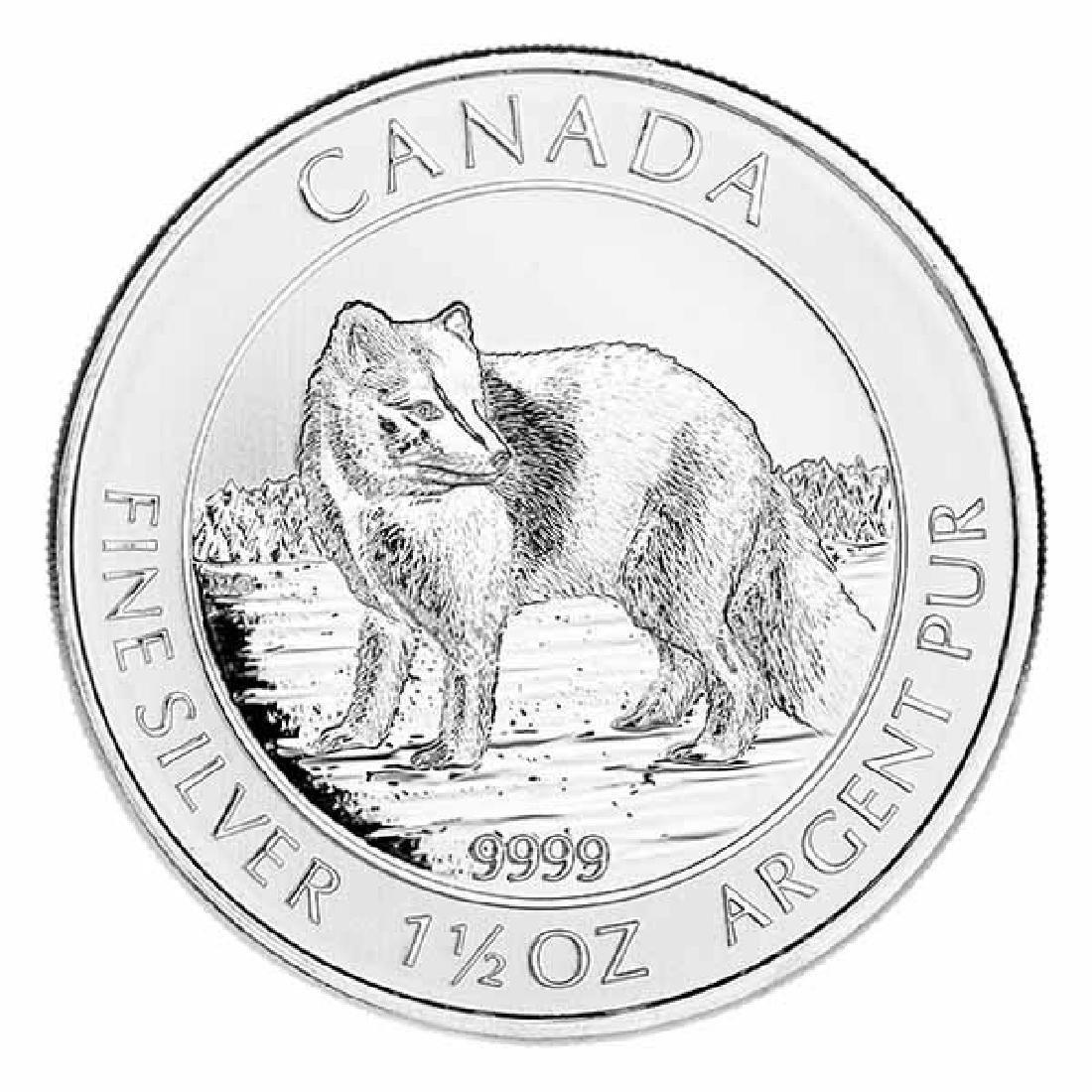 2014 Canadian Silver $8 Arctic Fox 1.5 Ounces