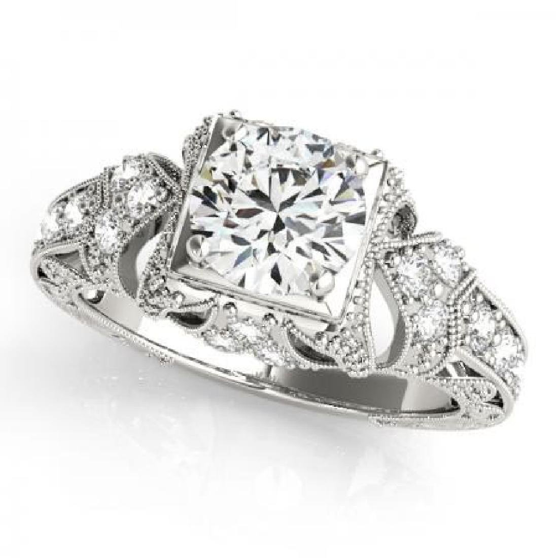 18KT WHITE GOLD .90 CT G-H/VS-SI1 VINTAGE STYLE DIAMOND