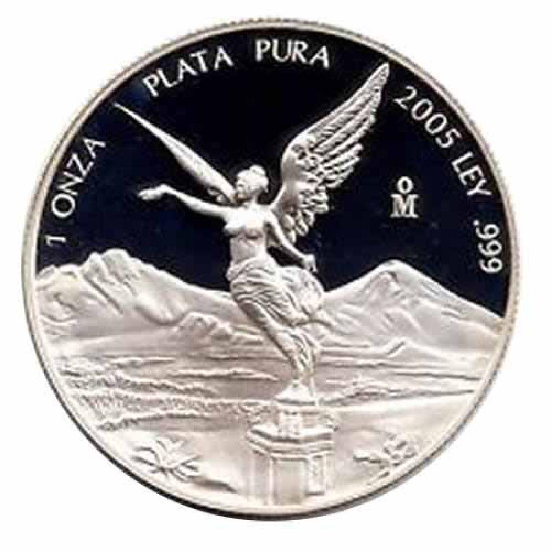 Mexico 1 ounce silver Libertad Proof 2005