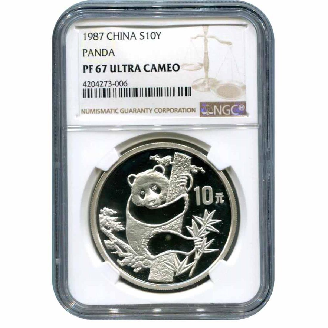 Certified Chinese Panda One Ounce 1987 PF67 NGC