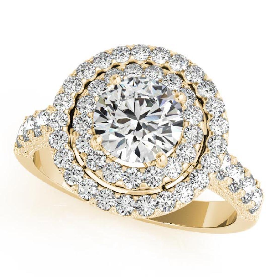CERTIFIED 18K YELLOW GOLD 2.32 CT G-H/VS-SI1 DIAMOND HA