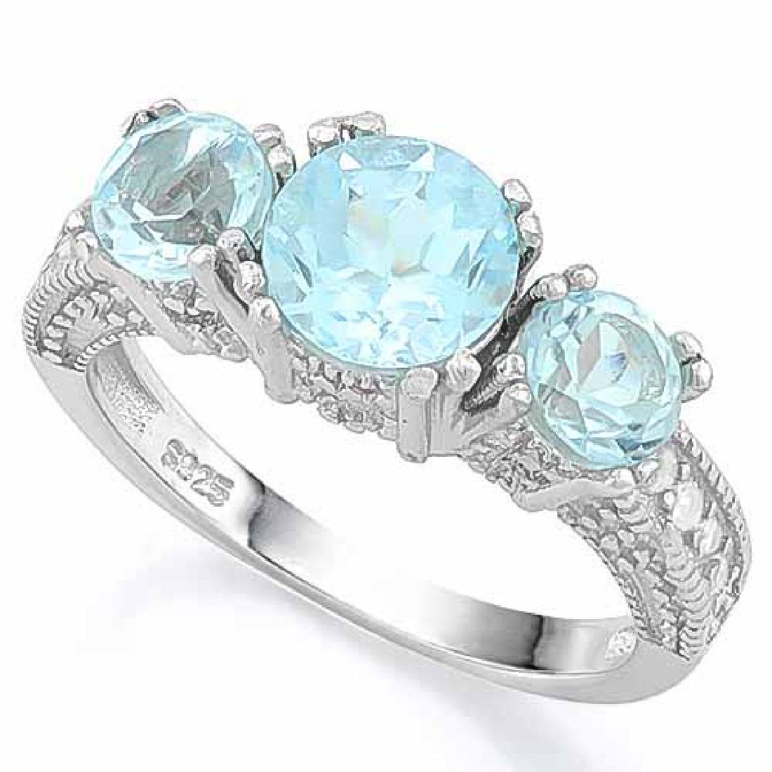 BABY SWISS BLUE TOPAZ 925 STERLING SILVER RING