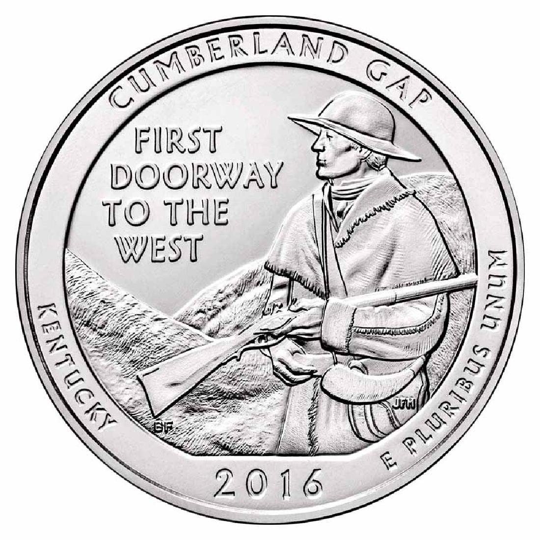 2016 Silver 5oz.Cumberland Gap National Historical Park
