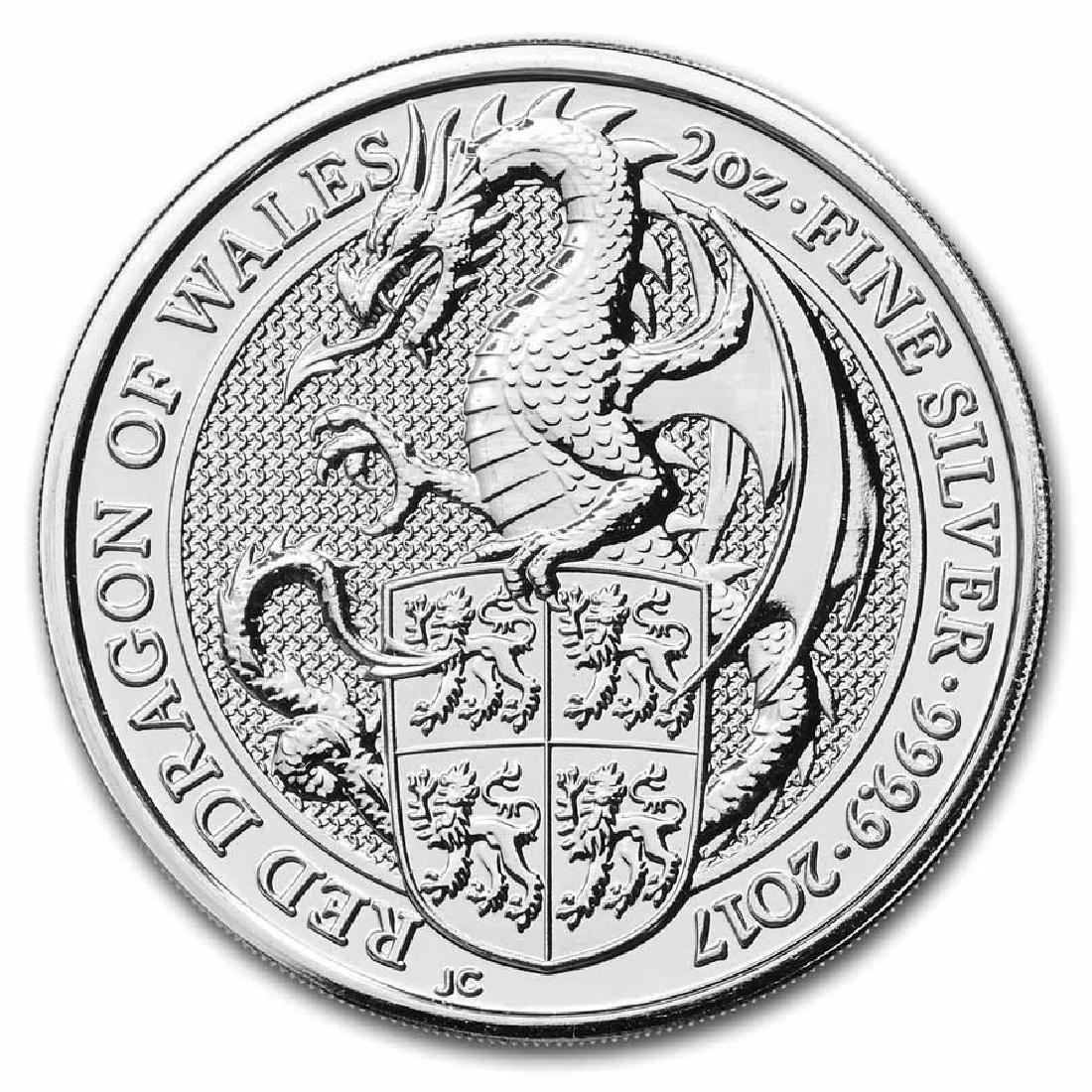 2017 2 oz British Silver Queen