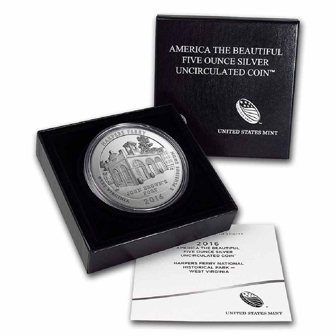 2016-P 5 oz Silver ATB Harpers Ferry National Park (w B