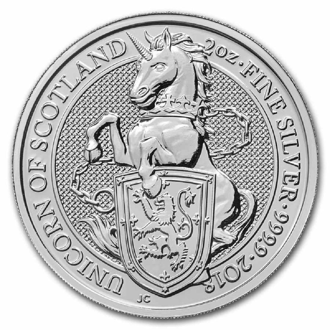 2018 2 oz British Silver Queen