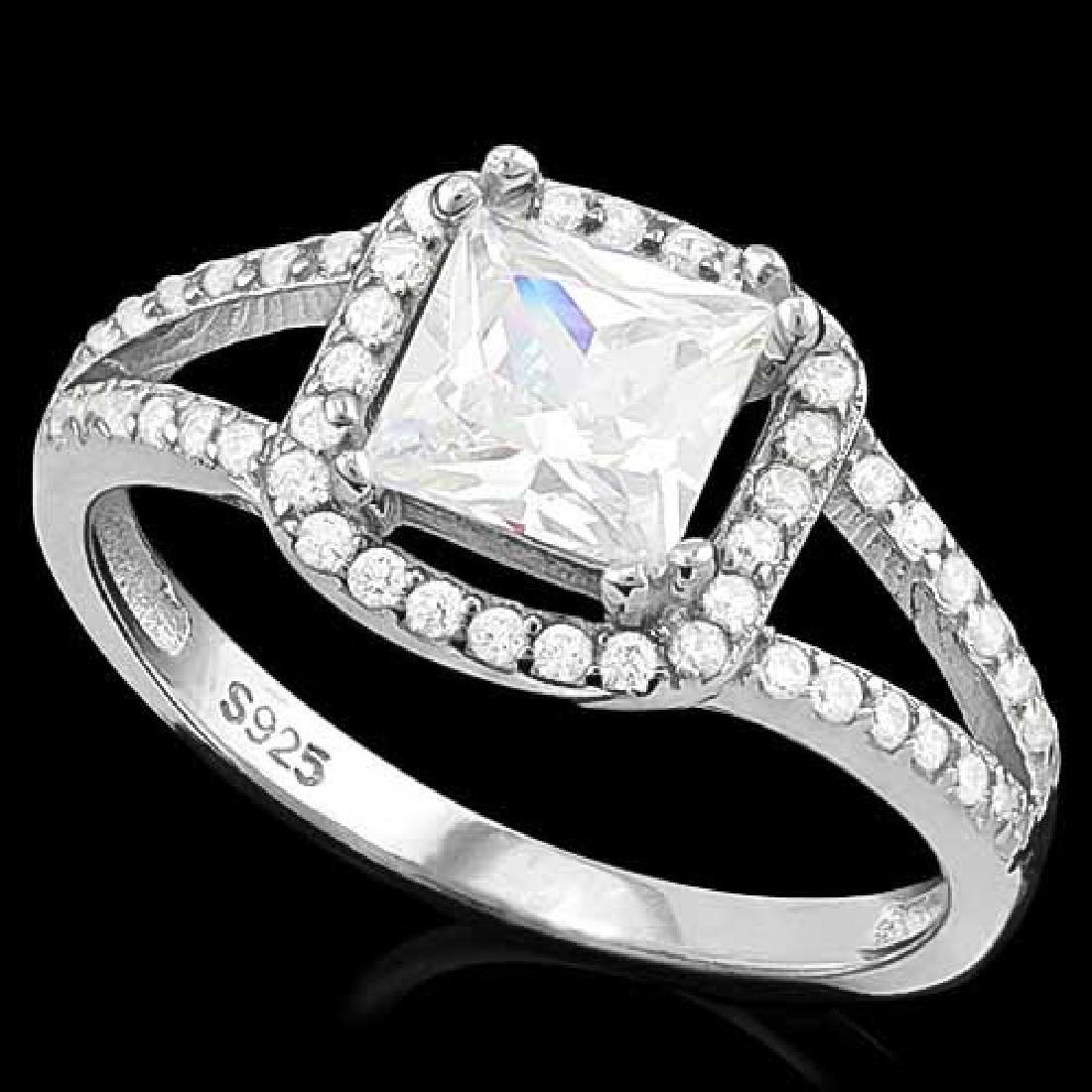 1.50 CT CREATED DIAMOND & 56PCS CREATED DIAMOND 925 STE