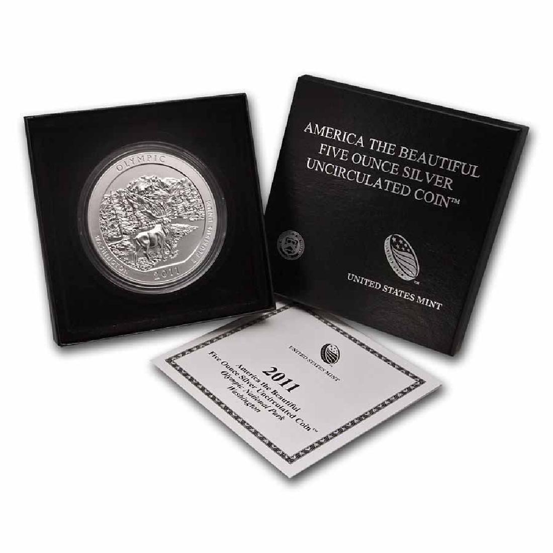 2011-P 5 oz Silver ATB Olympic (w Box and COA)
