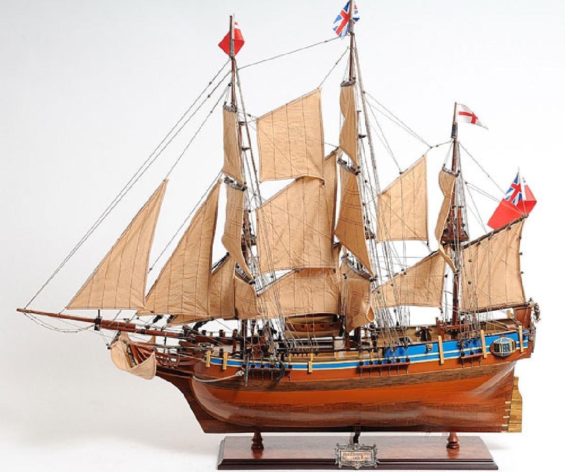 HAND MADE WOODEN HMS Bounty W/COA