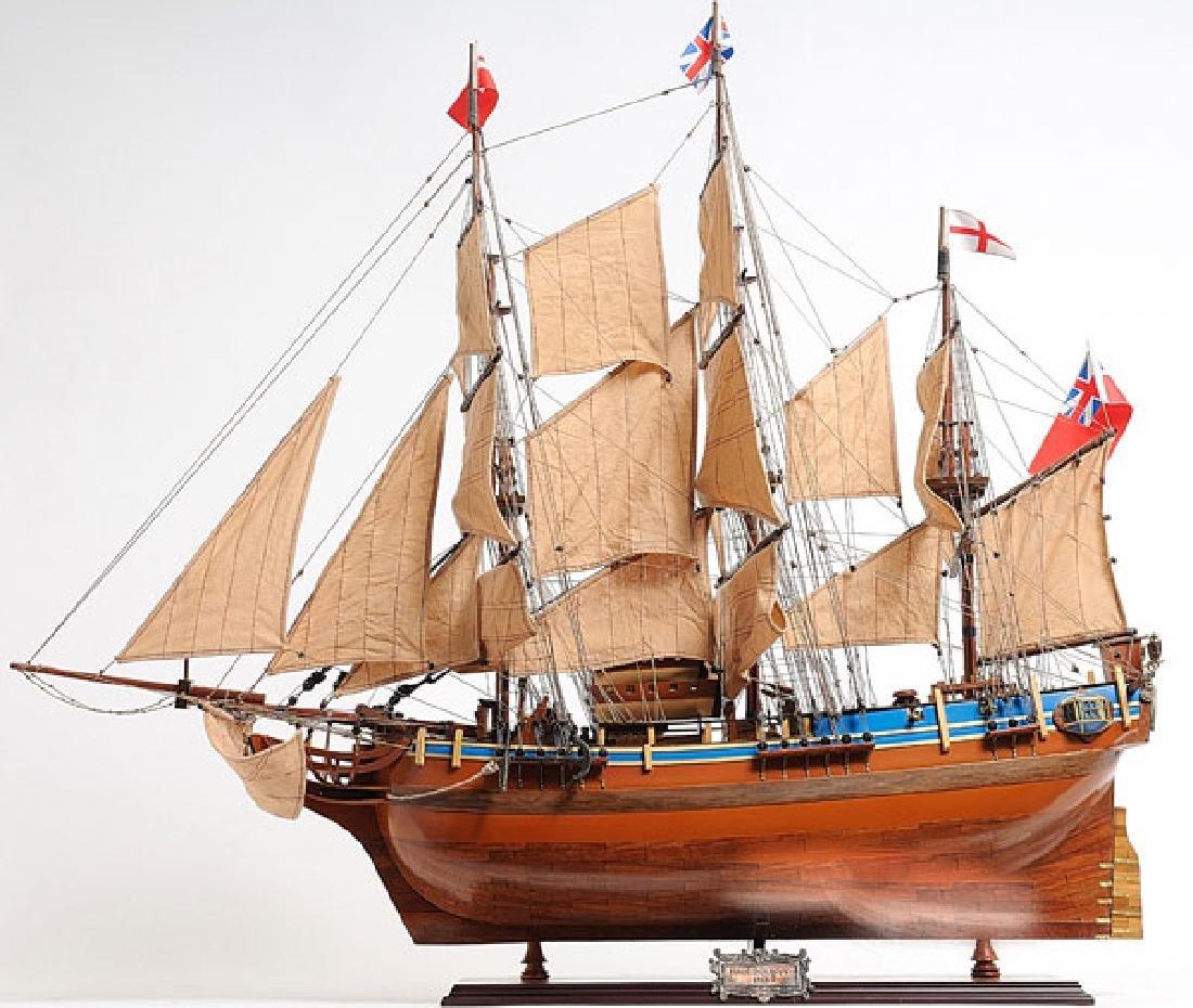 HAND MADE WOODEN HMS Bounty W/COA - 2